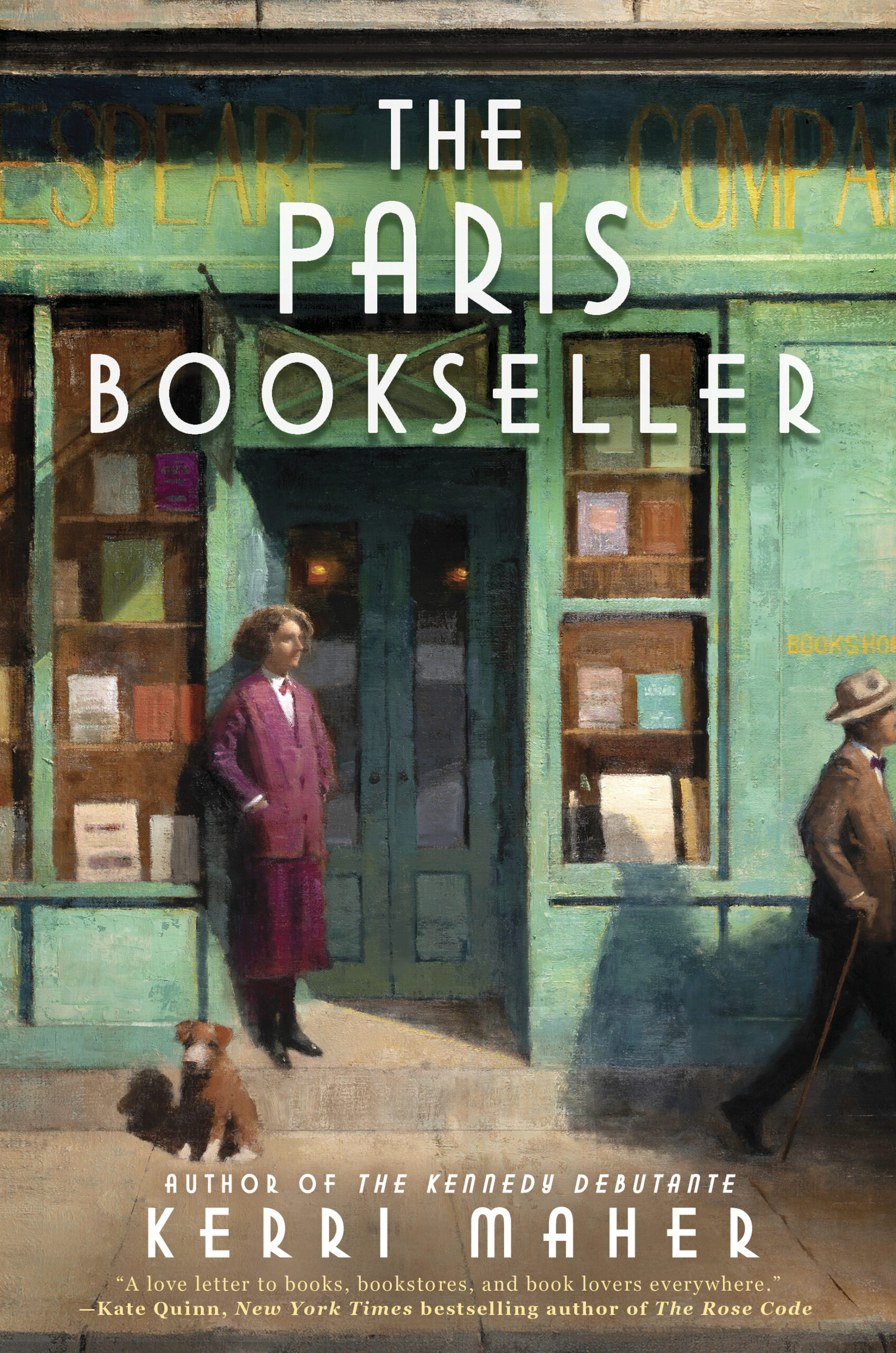 The Paris Bookseller by author Kerri Maher